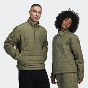 Adidas Quilted Unisex Olive Green Track Jacket S